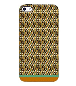 PrintDhaba Pattern D-1576 Back Case Cover for APPLE IPHONE 5S (Multi-Coloured)