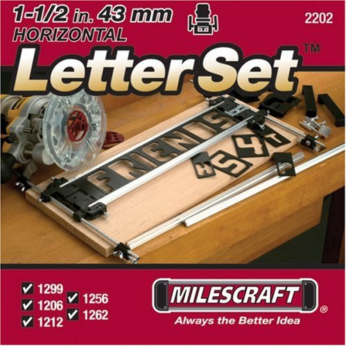 Milescraft 2202 1 1 2 inch horizontal character template for Router lettering template sets