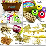 #9: Silk thread jewelery-making fully loaded box with all accessories