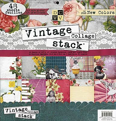 DCWV The Vintage Collage Stack