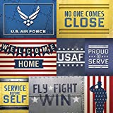 Paper House Productions P-0715E Heavyweight Paper, Air Force Tags, 12 by 12-Inch, 25-Pack
