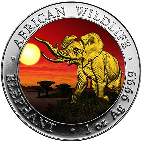 2016 SO ELEPHANT SUNSET African Wildlife 1 Oz Silver Coin