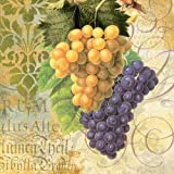 Paperproducts Design 7026 Beverage Cocktail Napkin, 5 by 5-Inch, Grapes