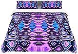 "Kess InHouse Nina May ""Deztecca Lilac"" Purple Blue Queen Cotton Duvet, 88 by 88-Inch"