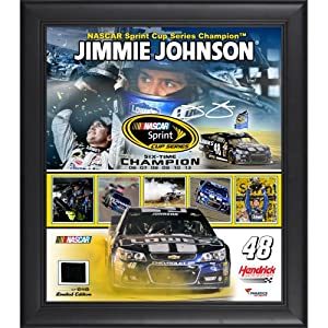Jimmie Johnson 6-Time Sprint Cup Series Champion Framed 15