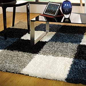 Flair Rugs Nordic Andes Shaggy Rug, Blue/Grey, 80 x 150 Cm by Flair Rugs