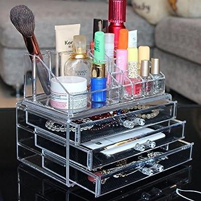 Ohuhu® Acrylic Makeup Organizer/ Makeup Box/ Jewelry & Cosmetic Storage Display Boxes