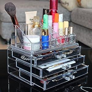 Amazon.com - Ohuhu® Makeup Cosmetics Organizer Acrylic Transparent 3