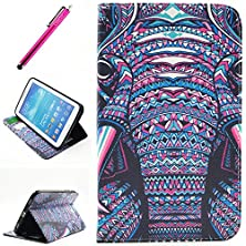 """buy Galaxy Tab 4 8.0 Case, Wallet Case For Tab 4 8.0, Yummi Premium Wallet Leather Case Cover With Credit Card Slot And Built In Stand Feature For Samsung Galaxy Tab 4 8"""" 8 Inch Sm-T330 / T331 / T335+ One Free Stylus [Elephant]"""