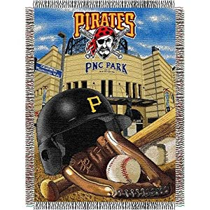 MLB Pittsburgh Pirates Acrylic Tapestry Throw Blanket by Northwest