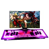 MOSTOP Arcade Console Games Box 999 in 1 Pandora's Box 5S Arcade Fightstick Machine 2 Players Metal Box with Dream Color LED Lights Arcade Joystick VGA/HDMI Output (LED Light) (Color: Game Controller)