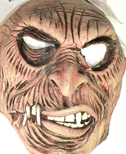 Tortured Evil Stapled Mouth Zombie Halloween Latex Costume Mask