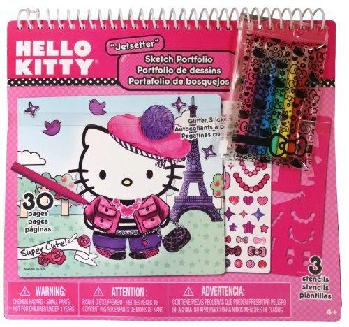 Hello Kitty Jetsetter Sketch Portfolio with Felt-Tip Pens - 1