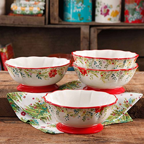 """Pioneer Woman 7"""" Dishwasher and Microwave Safe Bowl, Set of 4"""