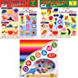 Origami Loisirs - Loisirs Cratifs - Set de 3 Kits d'Origami - Notices Illustres + 244 Feuilles de Papier Origami - 15cm x 15cm