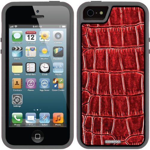 Best Price Snake Scarlet design on a Black iPhone 5s / 5 Guardian / Ruggedized Case by Coveroo