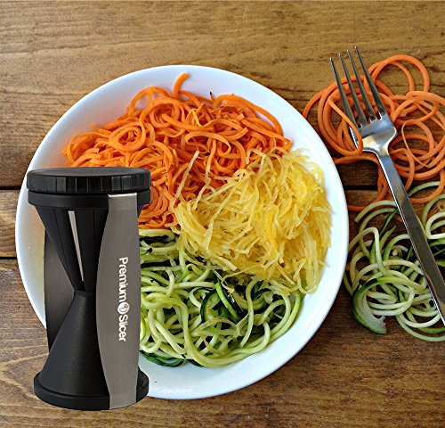 premium vegetable spiralizer bundle spiral slicer best veggie zucchini spaghetti pasta. Black Bedroom Furniture Sets. Home Design Ideas