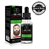 Beard Oil and Beard Balm Grooming Kit for Men Care, Beard Growth, Natural Mustache Hair Eyebrows Facial Grow Conditioner for Thicker and Fuller Beard (Oil+Balm)