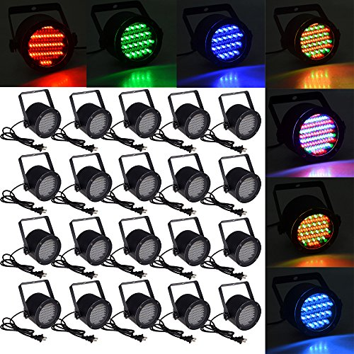 20Pcs 86 Rgb Led Stage Light Par Dmx-512 Lighting Laser Projector Party Club Pub Dj