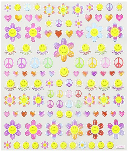Multi-Colored Stickers-Retro Happy Faces