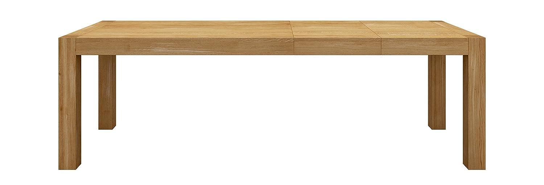 Miloni Esstisch BLOX, 200-300x90x76 cm Eichen / Massivholz ausziehbar, holzfarbe natur