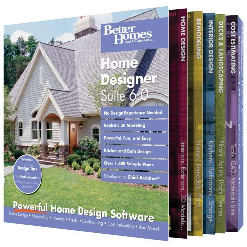 Better Homes and Gardens Home Designer Suite 6 0 OLD VERSIONB0000DIEPZ