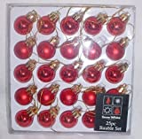 Pack of 25 RED Shiny and Matt Christmas Tree Baubles (PM98)