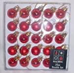 Pack of 25 RED Shiny and Matt Christm...