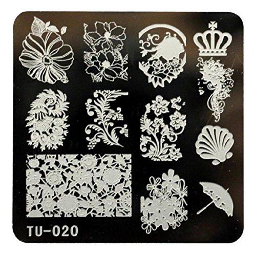 Malloom Nail Art Image De Timbre Bricolage Estampage Des Plaques Modèle Manucure