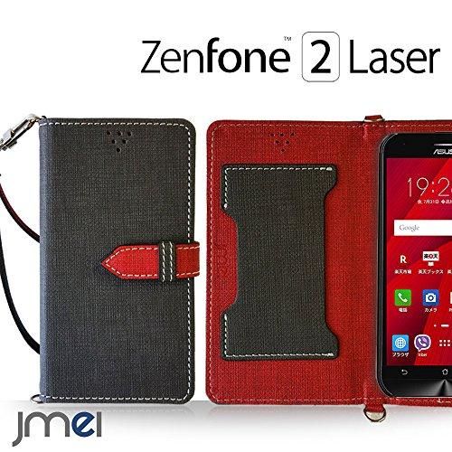 ZenFone2 Laser ZE500KL ケース jmeiオリジナルカルネケース VESTA ブラック 楽天モバイル simフリー ASUS エイスース ゼンフォン 2 レーザー スマホ カバー スマホケース 手帳型 ショルダー スリム スマートフォン