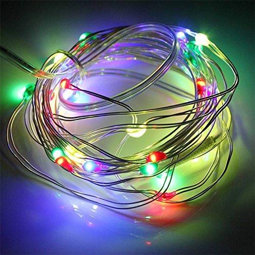 SOLMORE 3m 30 LED 12V Silver Line LED Lichterkette String Sternenhimmel Leuchte Batteriebetriebene Vier Farben