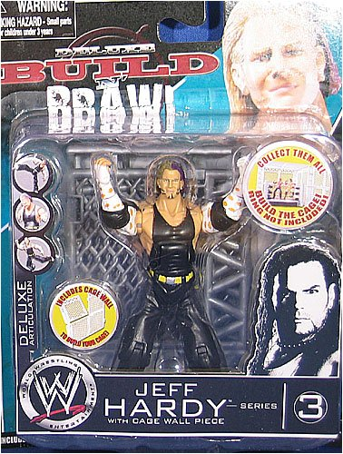 WWE Wrestling Build N' Brawl Series 3 Mini 4 Inch Action Figure Jeff Hardy (With Cage Wall) (Wwe Build N Brawl Ring compare prices)