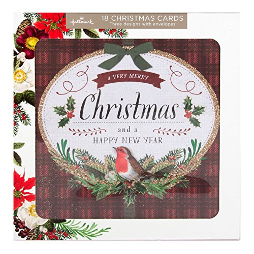 hallmark-tarjeta-de-felicitacion-tarjeta-de-navidad-pack-tradicional-diseno-floral-18-tarjetas-3-dis