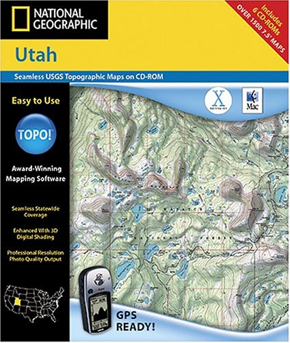 National Geographic TOPO Utah Map CD-ROM MacB0000DK54O