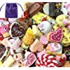 LUXEOS- Pack of 10 Pcs Resin Pendants,Loom Accessories,Perfect for Loom Bands With One LUXEOS Velvet Bag