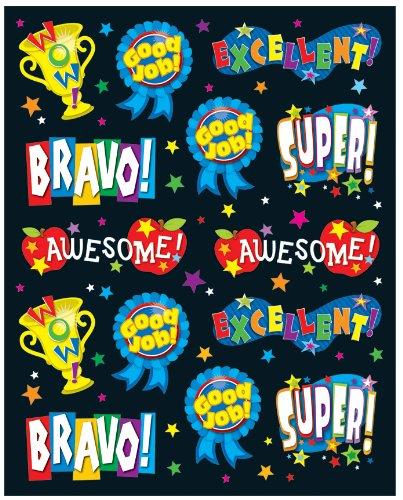 Carson Dellosa Positive Words Shape Stickers (168016)