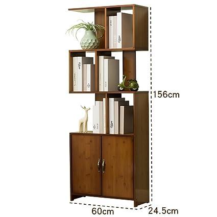 FEIFEI Mensole combinate multifunzionali di arte di bambù del basamento di tipo S libreria ( dimensioni : 60*34.5*156CM )