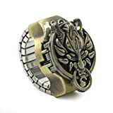 Vintage Ring Watch - DreamsEden Round Fashion Roman Numerals Finger Watch with Gift Box and Greeting Card (Copper Dragon) (Color: Copper Dragon, Tamaño: Diameter: 0.9'')