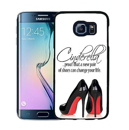 Amazon.com: Red Bottoms Black High Heels Cinderella Shoes Quote ...