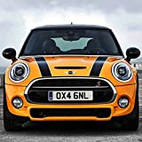 Auto Hood Bonnet Sticker Decal for BMW MINI Cooper (Black with White edges)