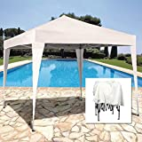 3 x 3m Foldable Garden Gazebo - Colour SAND - Epoxy coated ALUMINIUM - High quality - EASY UP system: put up and take down in a matter of minutes