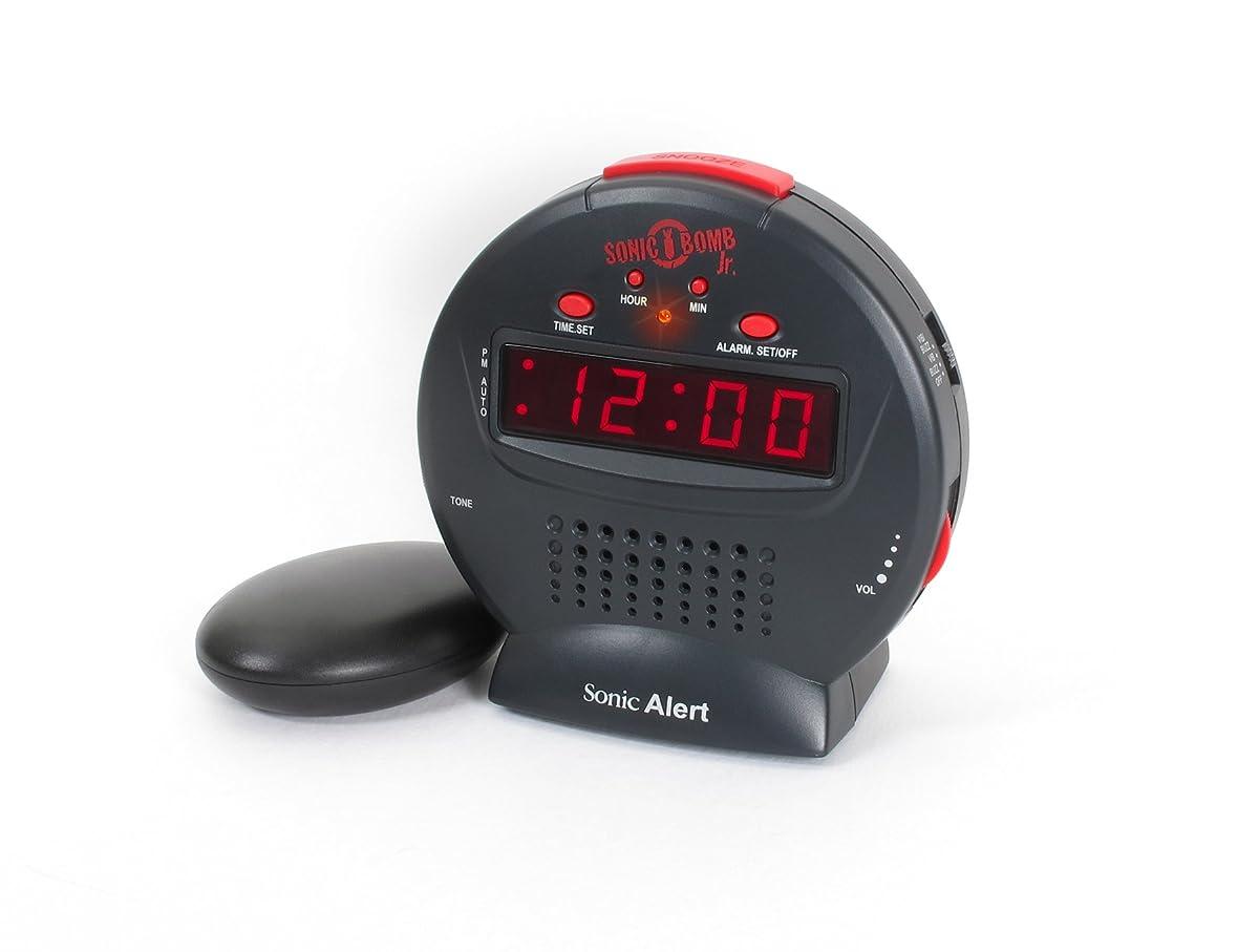 Sonic Alert SBJ525ss Sonic Bomb Jr., Black/Red