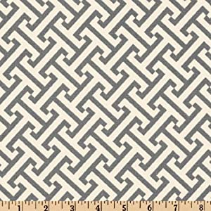 58'' Wide Waverly Cross Section Charcoal Fabric By The Yard
