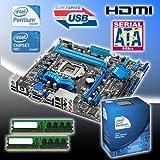 Intel Pentium G840 2.8Ghz Dual Core CPU, Asus P8H61-M Pro HDMI USB3.0 Motherboard, 4GB DDR3 1333MHz Memory Bundle BU143