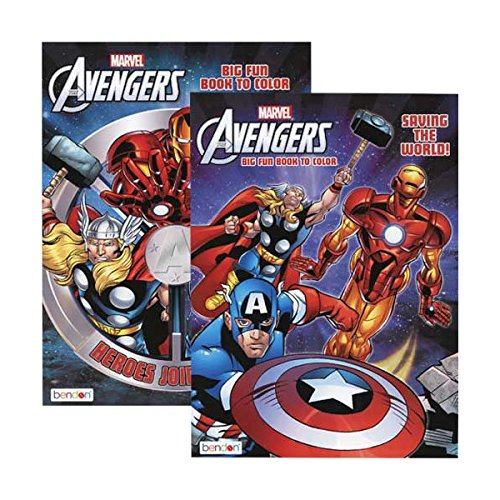WeGlow International Marvel Avengers 96-Page Coloring Book (Set of 2) - 1