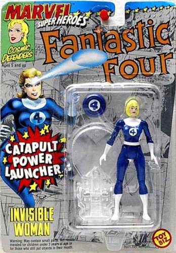 MARVEL SUPERHEROES FANTASTIC FOUR INVISIBLE WOMAN WITH CATAPULT POWER LAUNCHER ACTION FIGURE - 1