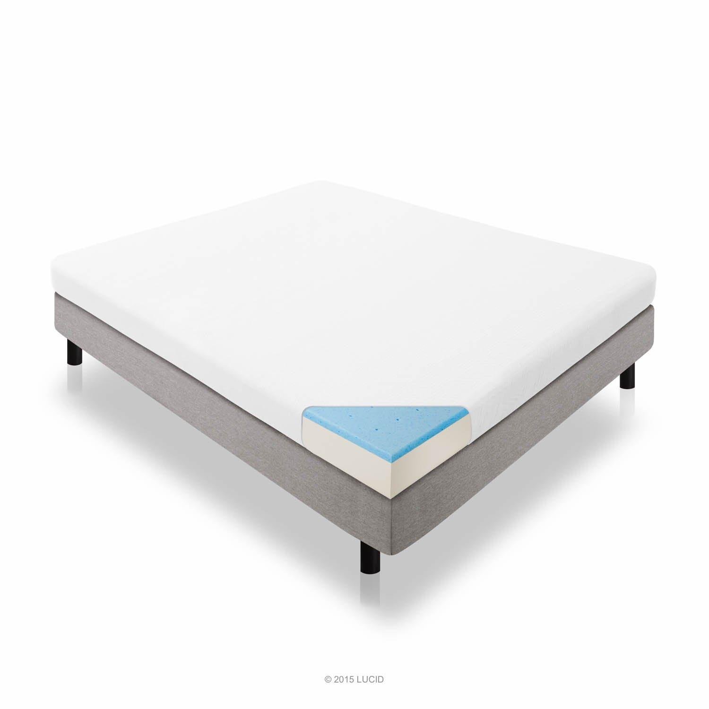 LUCID 5 Inch Gel Memory Foam Mattress – Dual-Layered – CertiPUR-US Certified – Firm Feel – Queen Size