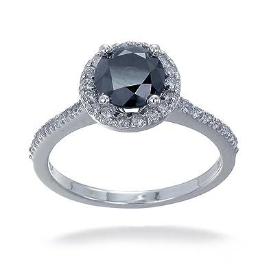 10k Gold Wedding Rings 97 Marvelous White gold black diamond