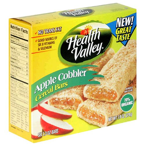Health Valley Cobbler Cereal Bars, Apple, 6-Count 7.9-Ounce Boxes (Pack of 6)