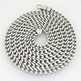"""Gold-Chains Mens 10K white gold franco cuban miami figaro bullet rope fancy chain gc38 Length - 30"""" Width - 5mm"""
